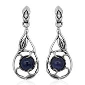 Bali Legacy Collection Rough Cut Tanzanite Sterling Silver Bamboo Dangle Earrings TGW 5.91 cts.
