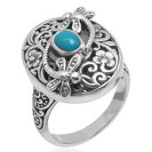 Bali Legacy Collection Arizona Sleeping Beauty Turquoise Sterling Silver Ring (Size 5.0) TGW 0.650 cts.