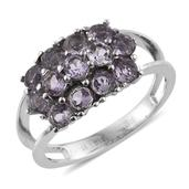 Rose De France Amethyst Stainless Steel Split Ring (Size 6.0) TGW 1.910 cts.