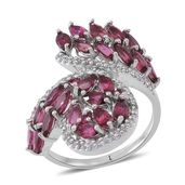 Pink Tourmaline Sterling Silver Ring (Size 7.0) TGW 3.400 cts.