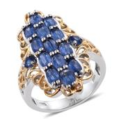 Himalayan Kyanite 14K YG and Platinum Over Sterling Silver Elongated Ring (Size 5.0) TGW 3.72 cts.