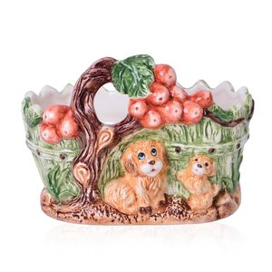 Puppies Ceramic Flower Pot (7.5x6 in)