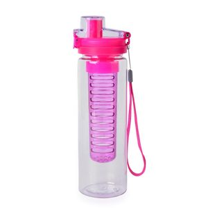 Pink 24 oz Infuser Water Bottle with Hand Strap