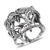 Sterling Silver Openwork Palm Tree Band Ring (Size 7.0)