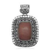 Bali Legacy Collection Peruvian Pink Opal Sterling Silver Pendant without Chain TGW 13.780 Cts.