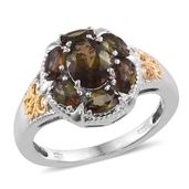 Jenipapo Andalusite 14K YG and Platinum Over Sterling Silver Ring (Size 10.0) TGW 2.65 cts.