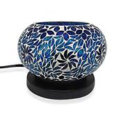 TLV Deepak's Dazzling Deal Handcrafted Mosaic Table Lamp with Rock Salt