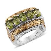 Arizona Peridot 14K YG and Platinum Over Sterling Silver Ring (Size 8.0) TGW 2.650 cts.