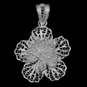 Bali Legacy Collection Sterling Silver Flower Pendant without Chain (2.2 g)