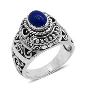 Bali Legacy Collection Blue Ethiopian Welo Opal Sterling Silver Engraved Ring (Size 6.0) TGW 0.90 cts.