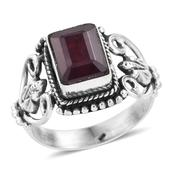 Artisan Crafted Niassa Ruby Sterling Silver Openwork Ring (Size 8.0) TGW 5.22 cts.
