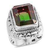 Bali Legacy Collection Watermelon Quartz Sterling Silver Statement Ring (Size 7.0) TGW 12.95 cts.