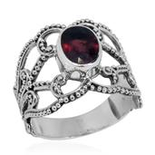 Bali Legacy Collection Niassa Ruby Sterling Silver Openwork Solitaire Ring (Size 9.0) TGW 2.68 cts.