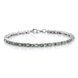 Green Kyanite Platinum Over Sterling Silver Bracelet (7.50 In) TGW 9.27 cts.