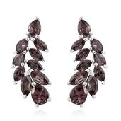 Color Change Garnet Platinum Over Sterling Silver Earrings TGW 3.41 cts.