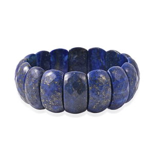 Lapis Lazuli Bracelet (Stretchable) (7.50 In) TGW 400.000 cts.