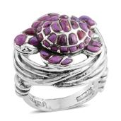 Santa Fe Style Mojave Purple Turquoise Sterling Silver Ring (Size 7.0) TGW 3.870 cts.