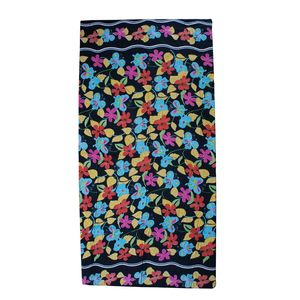 Multi Color Butterfly Print Rayon Sarong (70.8x47.2 in)
