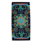Navy Blue Mandala Pattern 100% Rayon Sarong (70x46 in)