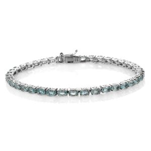 Apatite Platinum Over Sterling Silver Bracelet (8.00 In) TGW 10.08 cts.