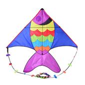 Multi Color Polyester Rainbow Fish Kite (82x66x1 in)