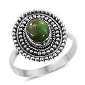 Artisan Crafted Mojave Green Turquoise Sterling Silver Ring (Size 9.0) TGW 1.690 cts.