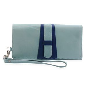 Turquoise Genuine Leather RFID Wallet