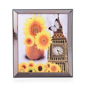 Sunflowers, Big Ben Glittered Oil Painting with LED Light (13x11 in) (2 AA Batteries Not Included)