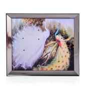 Peacocks Glittered Oil Painting with LED Light (13x11 in) (2 AA Batteries Not Included)