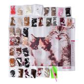 Deepak's Dazzling Deal Multi Color Beads, DIY 3D Drill Kittens Canvas Painting (19.5x15.5 in)