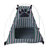 Multi Color Striped Paw Print Pet's Rest Zone Tent 100% Polyester (16.9x16.9x16.9 in) Easy to Clean