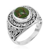 Bali Legacy Collection Mojave Green Turquoise Sterling Silver Ring (Size 8.0) TGW 4.610 cts.