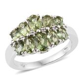 Forte Dauphin Apatite Platinum Over Sterling Silver Ring (Size 6.0) TGW 2.62 cts.