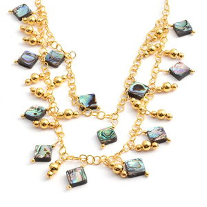 Abalone Shell Goldtone Necklace (20 in)