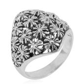 Bali Legacy Collection Sterling Silver Floral Ring (Size 6.0)