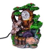 Multi Color Chroma Elephant Water Fountain with Rotating Ball (6.8x10.2x5 in)