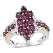 Mahenge Umbalite 14K YG and Platinum Over Sterling Silver Ring (Size 6.0) TGW 3.26 cts.