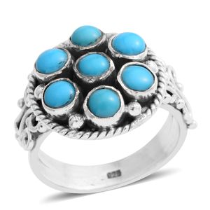 Arizona Sleeping Beauty Turquoise Sterling Silver Ring (Size 7.5) TGW 1.92 cts.