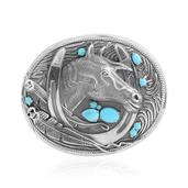 Arizona Sleeping Beauty Turquoise Sterling Silver Buckle TGW 1.89 cts.