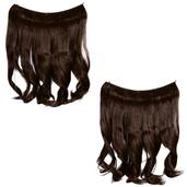 Easy Wear Extensions Double Up Set of 2 (Medium Brown)
