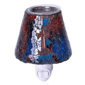 Multi Color Mosaic Glass Night Light and Lavender Fragrance Oil