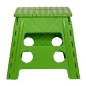 Lime Green Super Step Stool (Foldable, Carry Handle, No-Slip Base)(8.66x11.42x12.91 in)