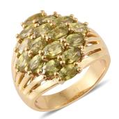 Madagascar Sphene 14K YG Over Sterling Silver Ring (Size 7.0) TGW 4.95 cts.