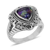 Bali Legacy Collection Northern Lights Mystic Topaz Sterling Silver Ring (Size 8.0) TGW 2.58 cts.
