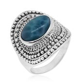 Bali Legacy Collection Larimar Sterling Silver Ring (Size 7.0) TGW 6.27 cts.