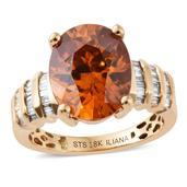 ILIANA 18K YG Picos Altos Sphalerite, Diamond Ring (Size 7.0) TDiaWt 0.23 cts, TGW 5.98 cts.