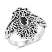 Artisan Crafted Kanchanaburi Blue Sapphire Sterling Silver Ring (Size 10.0) TGW 0.55 cts.