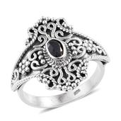 Artisan Crafted Kanchanaburi Blue Sapphire Sterling Silver Ring (Size 6.0) TGW 0.55 cts.
