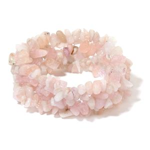 Marropino Morganite Chips Widen Bracelet (Stretchable) TGW 230.00 cts.