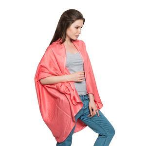 Coral  100% Rayon Cocoon Wrap Kimono (Free Size)